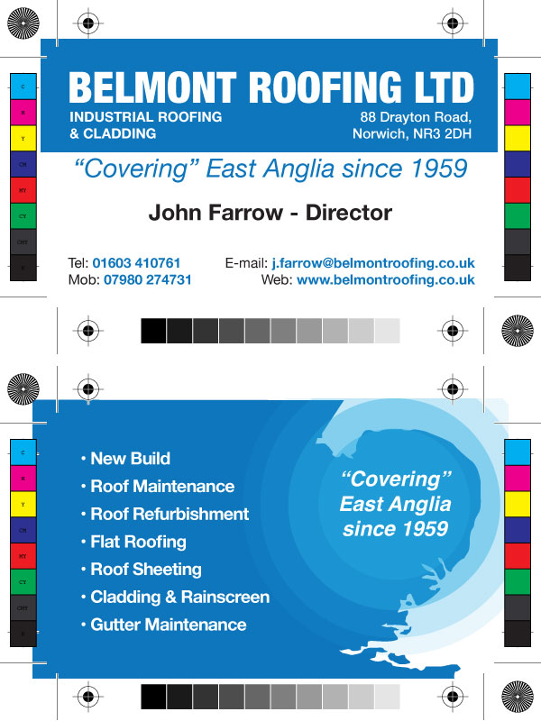 Belmont Roofing – Business Card Design « Wayne Ansell Design