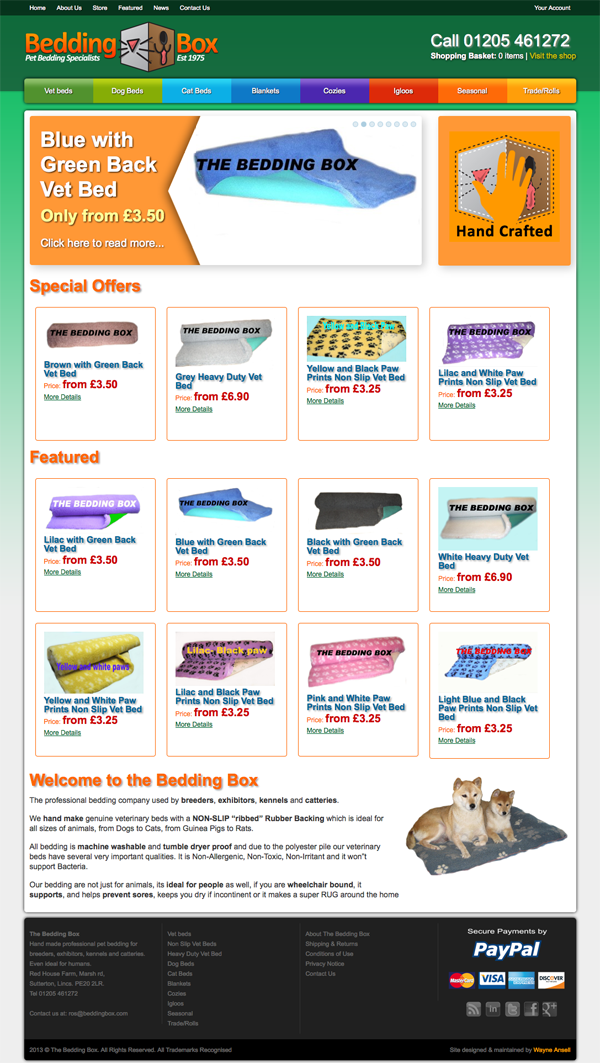 Bedding Box - New Website Design