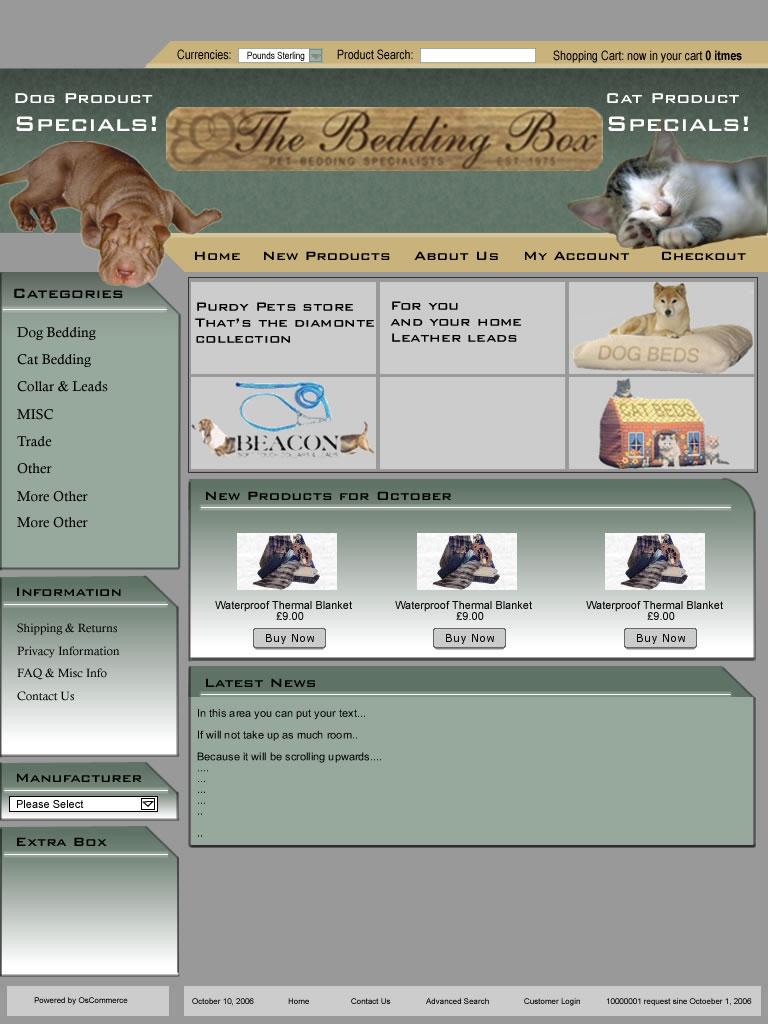 Bedding Box - Old Website
