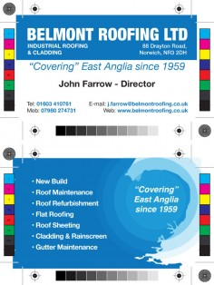 Belmont Roofing – Business Card Design