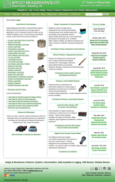 Applied Measurements Ltd – Website Redesign