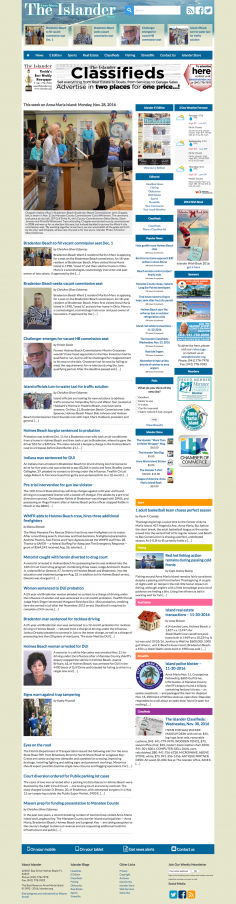 The Anna Maria Islander Newspaper – Website Redesign
