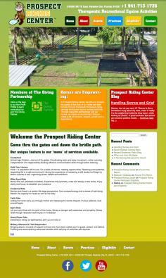 Prospect Riding Center – Website Design