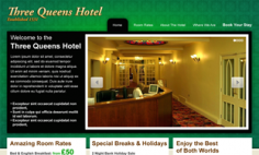 Three Queens Hotel – Website Redesign