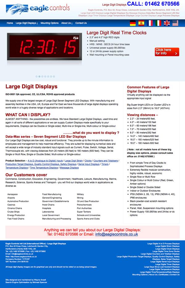Eagle Controls - Website Reworking