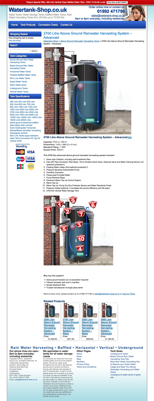 Watetank Shop Product Page