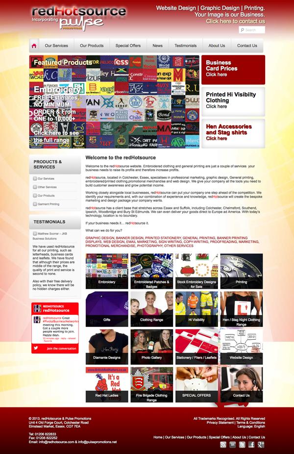 redhotsource - Website Redesign