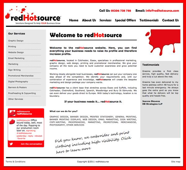 redhotsource - Old Website Design